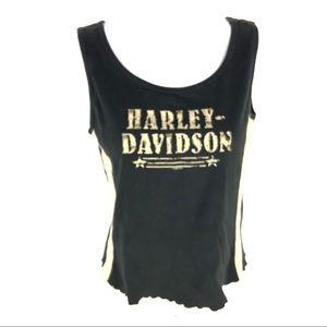 Harley Davidson Womens Black Tank Top S